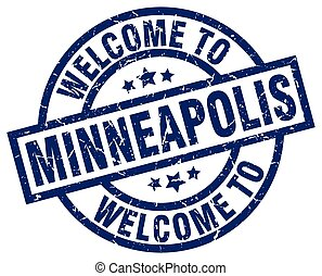 welcome to Minneapolis blue stamp