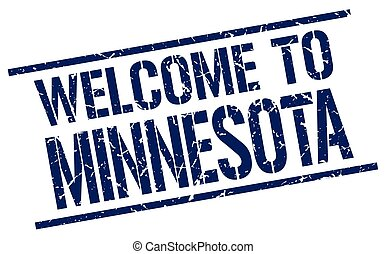 welcome to Minnesota stamp