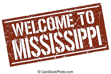 welcome to Mississippi stamp