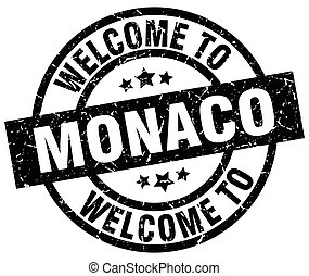 welcome to Monaco black stamp