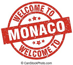 welcome to Monaco red stamp