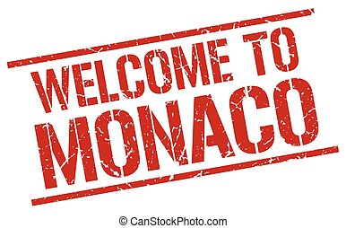 welcome to Monaco stamp