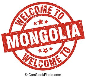 welcome to Mongolia red stamp