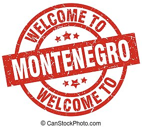 welcome to Montenegro red stamp