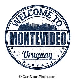 Welcome to Montevideo sign or stamp