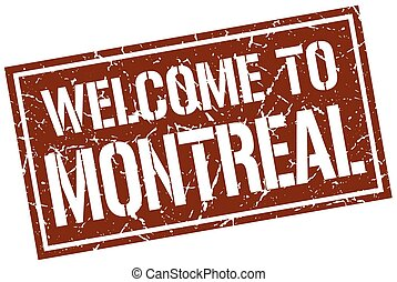 welcome to Montreal stamp