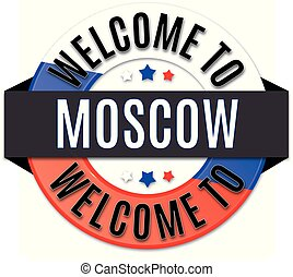 welcome to moscow russia flag icon