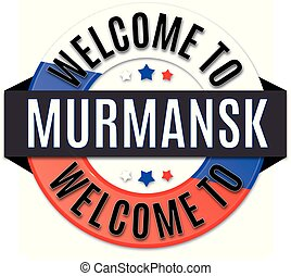 welcome to murmansk russia flag icon