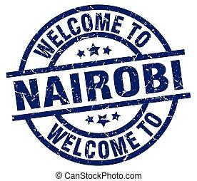 welcome to Nairobi blue stamp