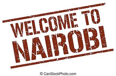 welcome to Nairobi stamp