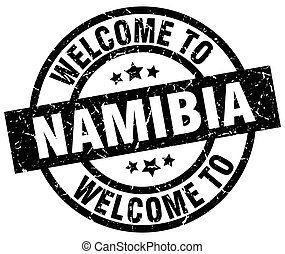 welcome to Namibia black stamp