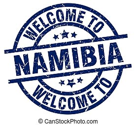 welcome to Namibia blue stamp