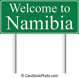 Welcome to Namibia, concept road sign