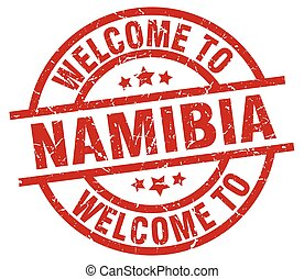 welcome to Namibia red stamp