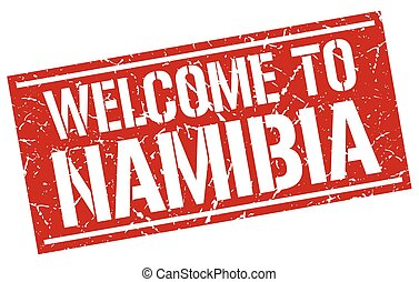welcome to Namibia stamp