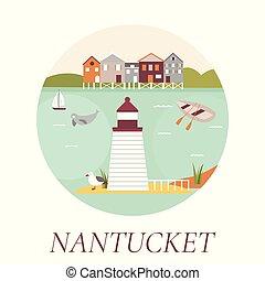 Welcome to Nantucket Island poster.
