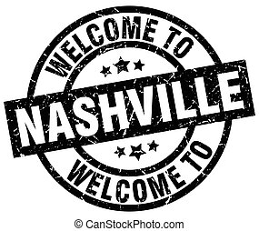 welcome to Nashville black stamp