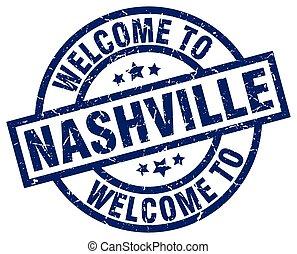 welcome to Nashville blue stamp