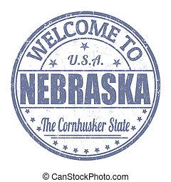 Welcome to Nebraska stamp - Welcome to Nebraska grunge...