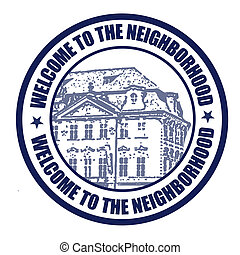 Welcome to neighborhood stamp