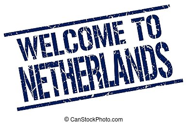 welcome to Netherlands stamp