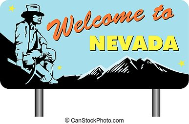 Welcome to Nevada - Road stand