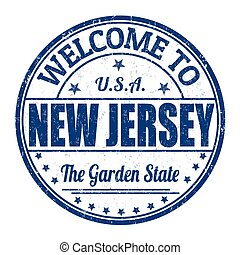 Welcome to New Jersey grunge rubber stamp on white background, vector illustration
