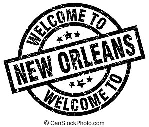 welcome to New Orleans black stamp