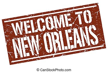 welcome to New Orleans stamp
