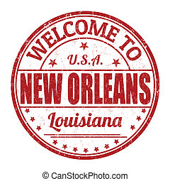 Welcome to New Orleans grunge rubber stamp on white background, vector illustration