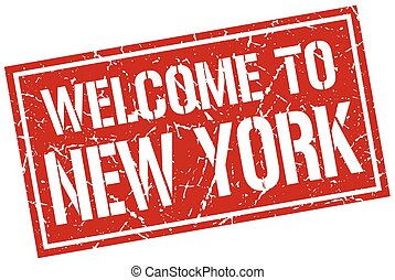 welcome to New York stamp
