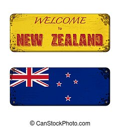 Welcome to New Zealand nameplate