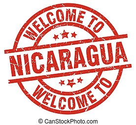 welcome to Nicaragua red stamp
