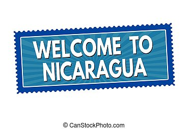 Welcome to Nicaragua sticker or stamp