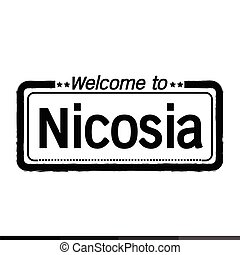 Welcome to Nicosia city illustration design