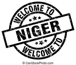 welcome to Niger black stamp