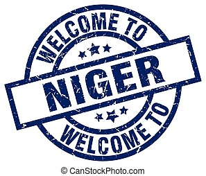 welcome to Niger blue stamp