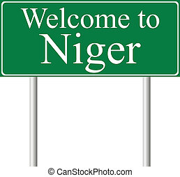 Welcome to Niger, concept road sign