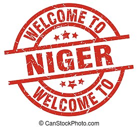 welcome to Niger red stamp