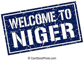 welcome to Niger stamp