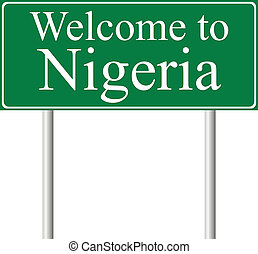 Welcome to Nigeria, concept road sign