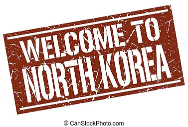 welcome to North Korea stamp