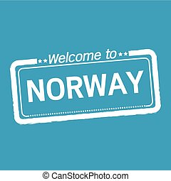 Welcome to NORWAY illustration design
