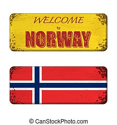 Welcome to Norway nameplate