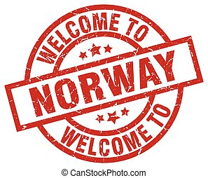 welcome to Norway red stamp