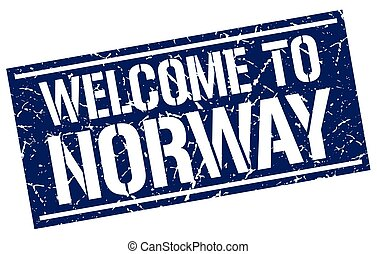 welcome to Norway stamp