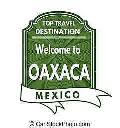 Welcome to Oaxaca stamp