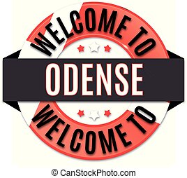 welcome to odense denmark flag icon