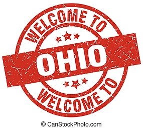 welcome to Ohio red stamp