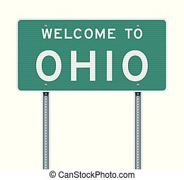Welcome to Ohio road sign